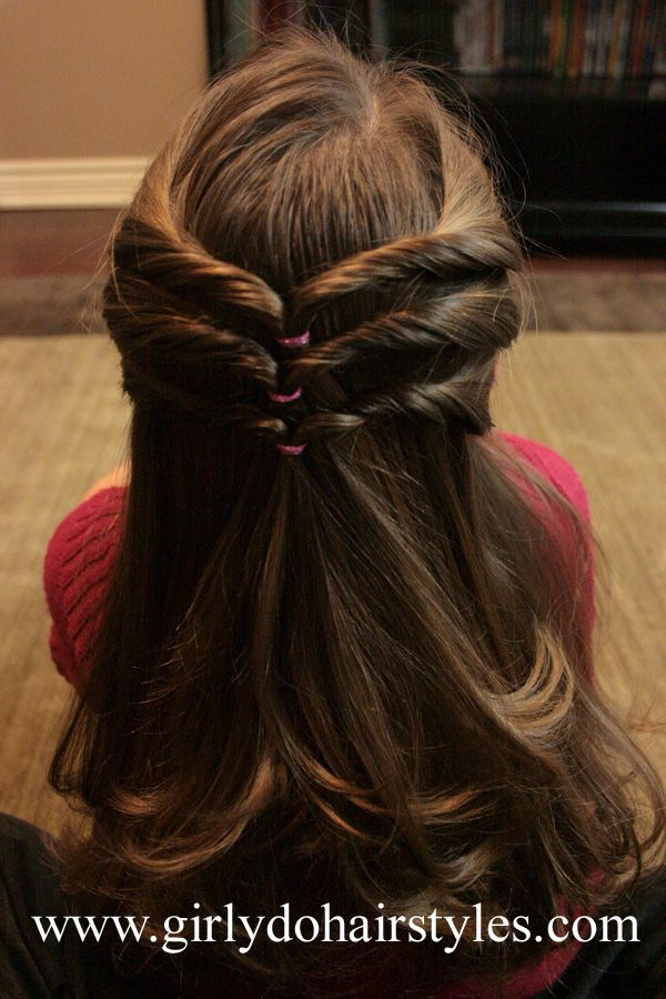 Girly Do Hairstyles By Jenn Triple Chevron Style Girls