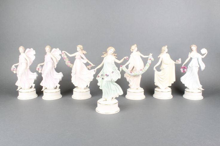 Lot 6, A set of 7 Wedgwood The Dancing Hours figurines sold for £160