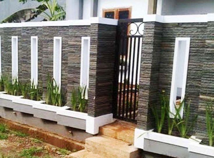 33+ contoh gambar dan model pagar tembok rumah minimalis ...
