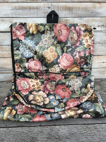 Garment Bags Hanging Carry Garment Bag -Dress Bags -Floral bi fold garment bag- Wedding Dress Bag -Travel Bags for women- bridal garment bag  by BostonInventory