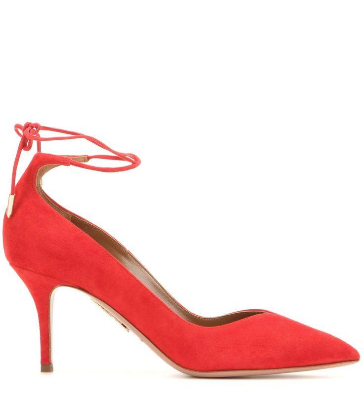 Allure 75 red suede pumps