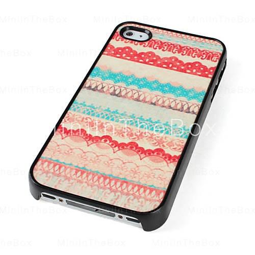 Carcasa de Patrones Orgánicos Coloridos Para iPhone 4 / 4S - Multicolor