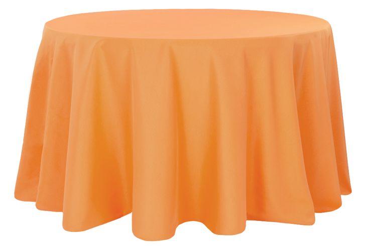 "Polyester+120""+Round+Tablecloth+-+Orange"