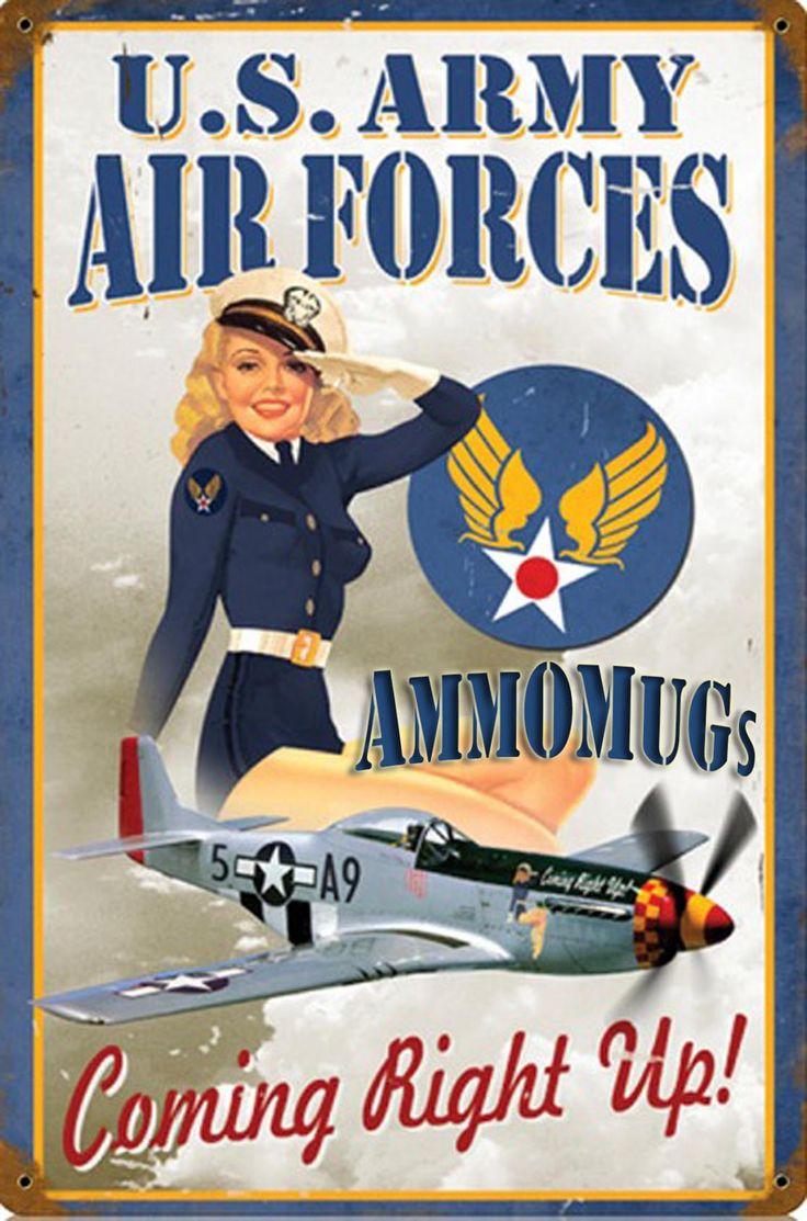 US Army AirCorps AmmOMugs! Essentials for Your Flight Bag! #USARMY #USAF #WWII www.ammomug.com