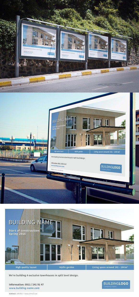 Building construction sign/billboard. Stationery Templates