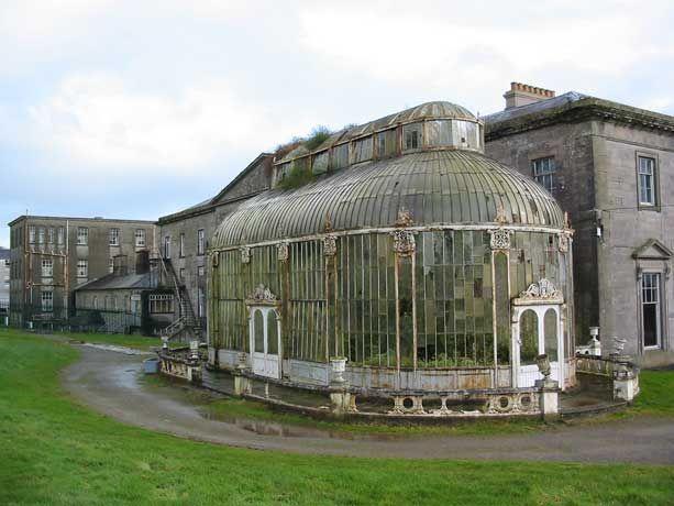Victorian Conservatory at Ballyfin Hotel in Ireland, before it's restoration.