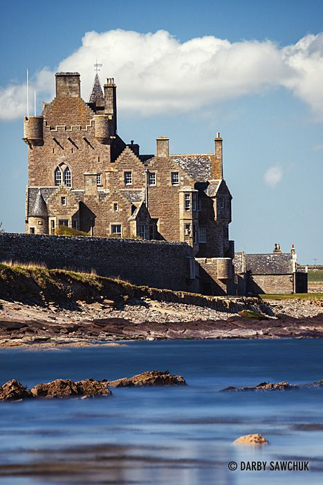 Ackergill Tower on Sinclair's Bay in the north of Scotland.
