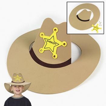 foam sheriff hat