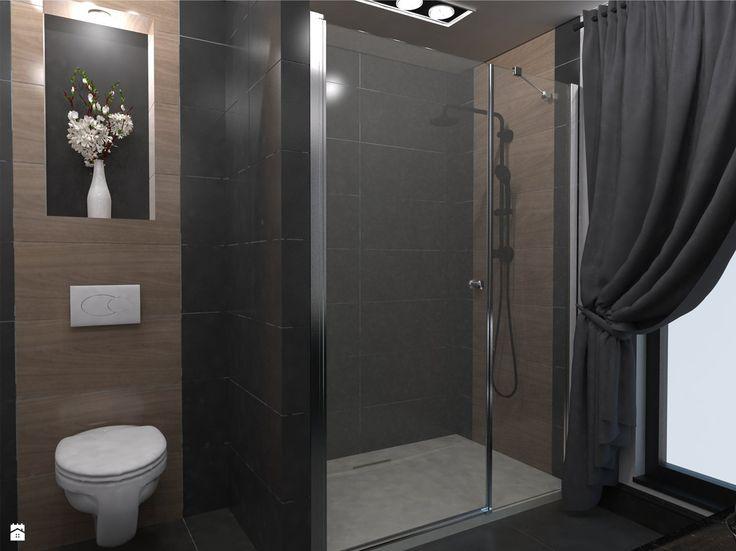 Widok na prysznic i ubikację - zdjęcie od Monika Szpak - Łazienka - Styl Nowoczesny - Monika Szpak