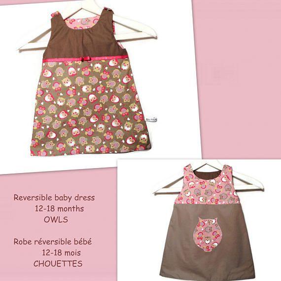 Handmade Reversible Baby Dress Autumn Dress Animal Baby Girl