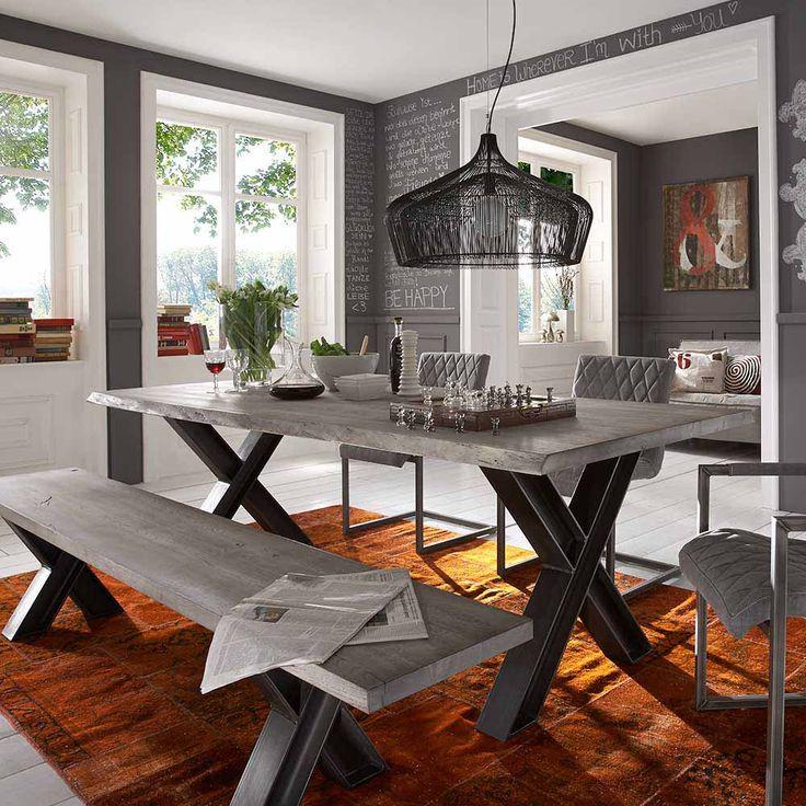 Die besten 25+ Grauer tisch Ideen auf Pinterest Grauholz - feuer modernen design rotes esszimmer
