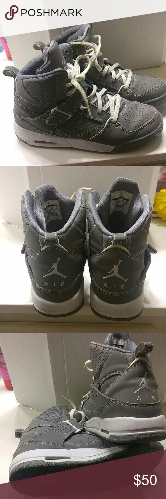 Nike High tops Jordan Flights Gray Jordan flights Nike Shoes Athletic Shoes