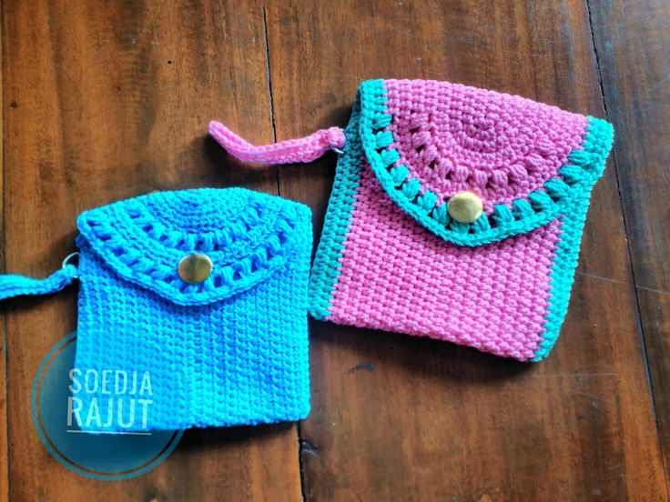 Crochet Coin pouch colorful made by soedja rajut