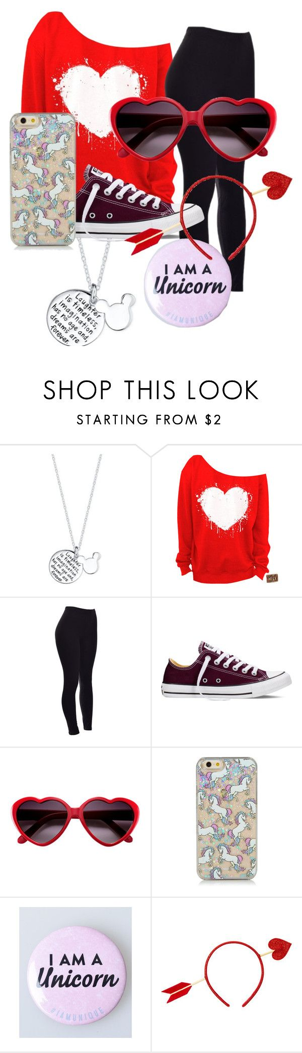 """Alexis Casual V-day Date Outfit"" by lexi-the-fashion-queen ❤ liked on Polyvore featuring Disney, Converse, women's clothing, women, female, woman, misses and juniors"