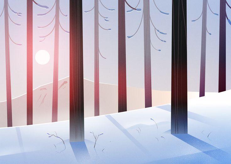 Forest App Illustrations on Behance