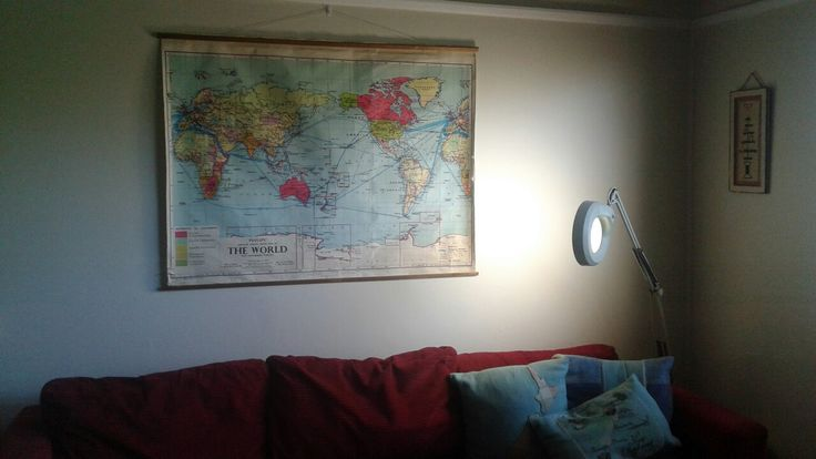 Vintage Canvas World Map