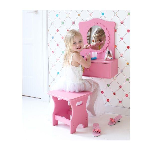 17 beste idee n over make up tafels op pinterest kaptafels ijdelheid bureau en make up bewaren - Tafel roze kind ...