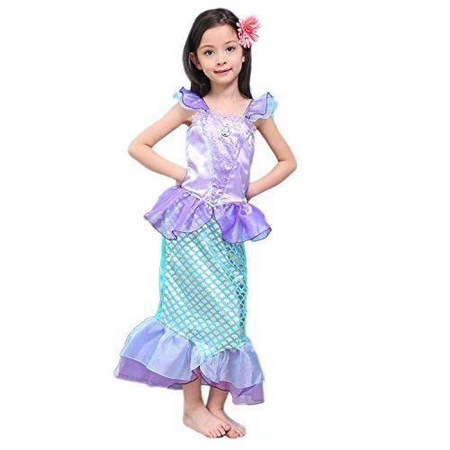 Newland Girl's Kids Little Mermaid Princess Party Dress C...