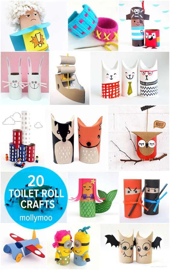 TP rolls never looked so cool! The ultimate collection of toilet paper roll crafts