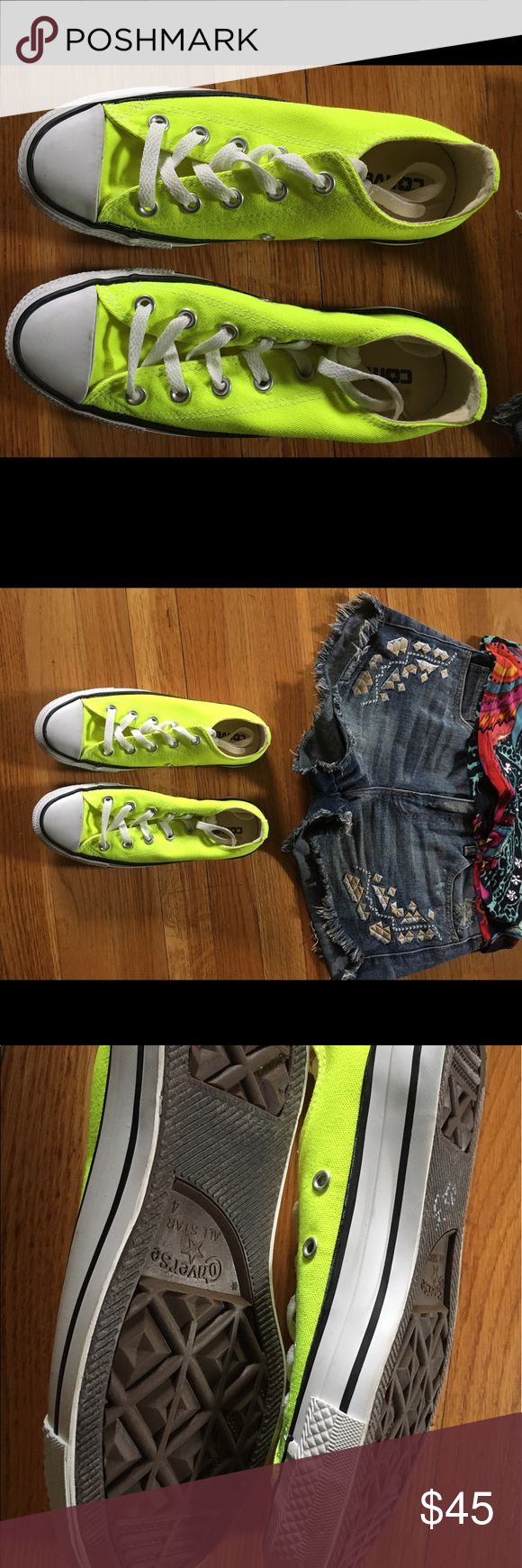 Spotted while shopping on Poshmark: Converse neon yellow.! #poshmark #fashion #shopping #style #Converse #Shoes