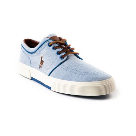 Shop for Mens Faxon Low Casual Shoe by Polo Ralph Lauren in Blue at Journeys Shoes. Shop today for the hottest brands in mens shoes and womens shoes at Journeys.com.Sporty causal sneaker from Polo featuring a cotton canvas upper, sharp-look side stitched Polo logo, and refined leather lace-up. Also features a padded shock absorbing insole and treaded rubber outsole for durable, everyday comfort.