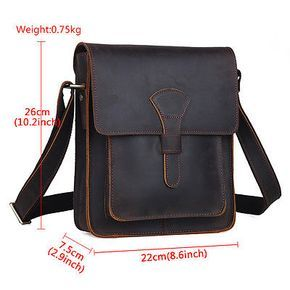 c95e4e382aa Men s Rustic Genuine Leather Messenger Shoulder Bag Small Cross Body  Satchel New