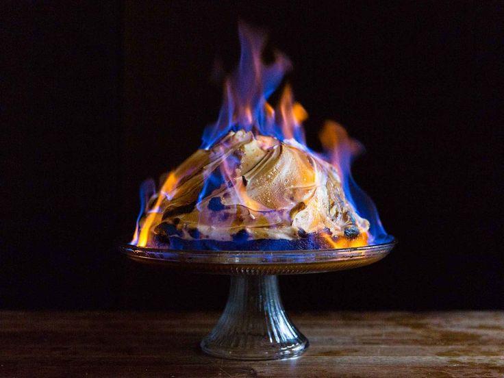 Baked Alaska Flambe. via Saveur