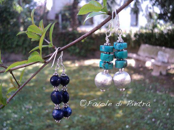 Lapislazzuli Earrings  Orecchini pendenti in di FavolediPietra, €19.00
