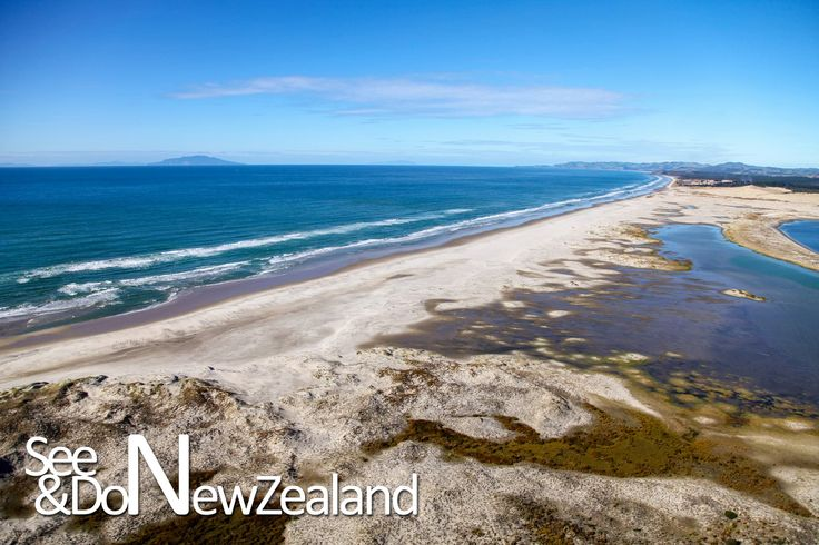 The Stunning Mangawhai beach - great for surfing with crystal clear waters