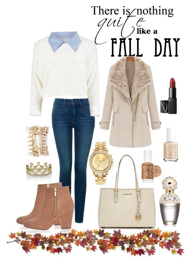 My style | autumn by neeacamillaa on Polyvore featuring Victoria, Victoria Beckham, NYDJ, River Island, MICHAEL Michael Kors, Mestige, Erica Courtney, NARS Cosmetics, Marc Jacobs, Essie and Nearly Natural