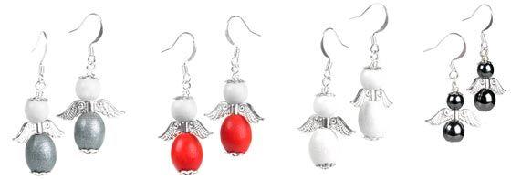 Tee kauniit enkelikorvakorut Preciosan puuhelmistä tai lasihelmistä.   http://www.helmikauppa.com/korvakorut-i-82.html