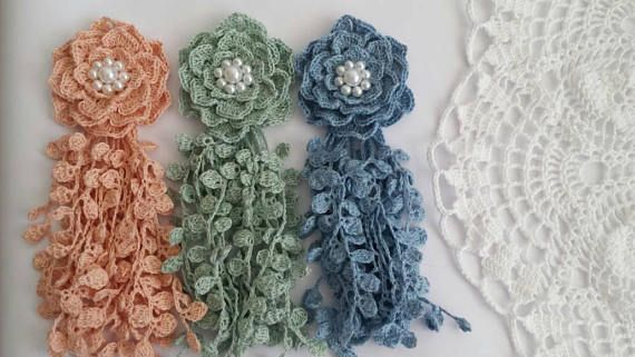 Check out this item in my Etsy shop https://www.etsy.com/listing/533772778/crochet-flowercrochet-scrapbookingflower