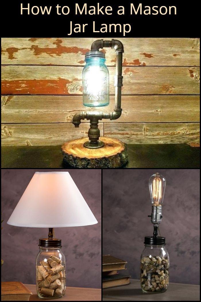 Diy Mason Jar Lamp Mason Jar Lamp Jar Lamp Mason Jar Diy