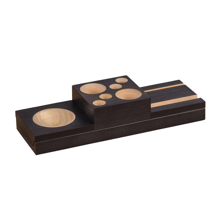 Safco Products Splash Wood Desk Organizer Set - 3280BL