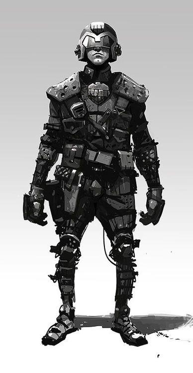 Judge Dredd by Ian McQue *