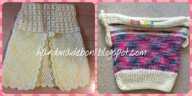 HandmadeBoni: Dla dziewczynki - kamizelki