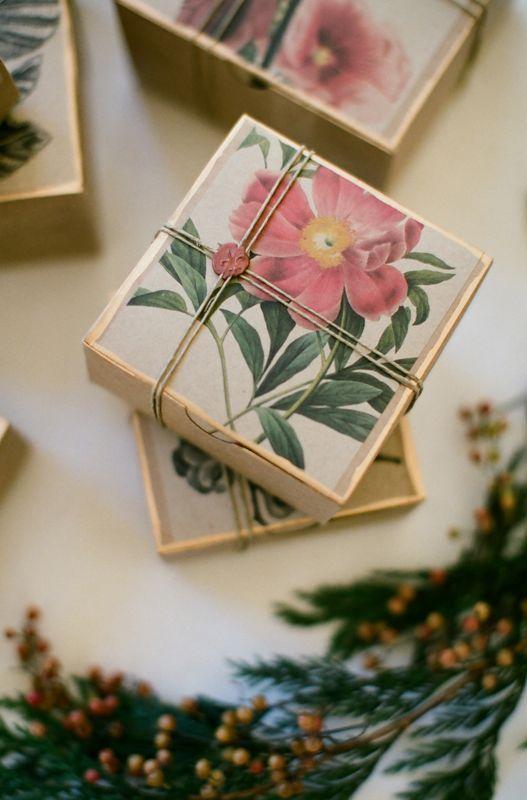 diy botanical gift box tutorial | great idea for favors