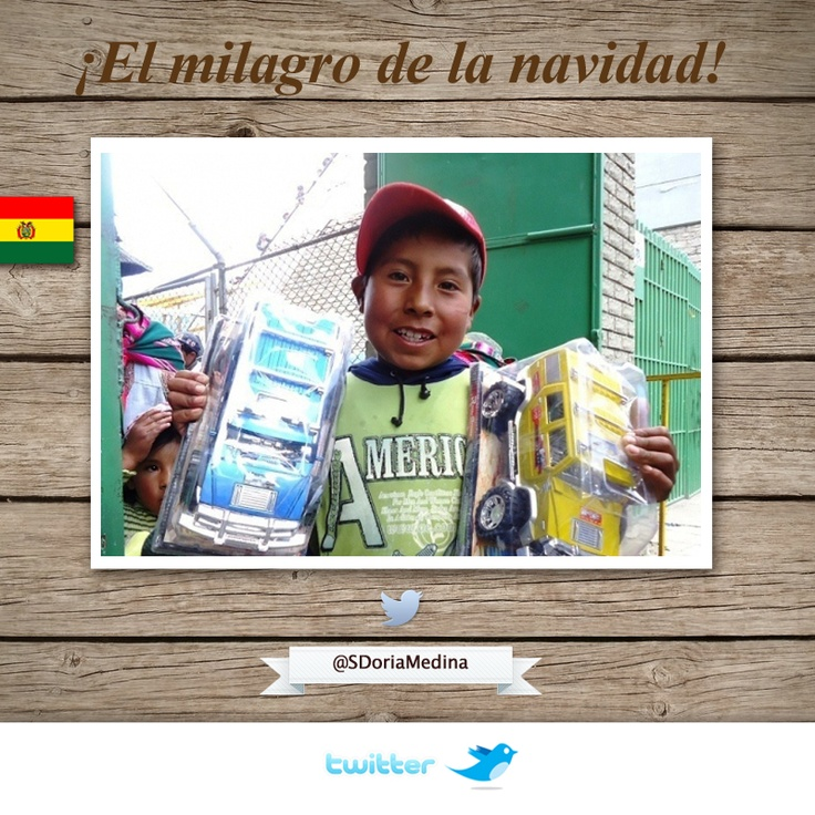 Misión cumplida: los Carros de Fuego entregaron juguetes a los niños, lo lograron, miles de niños y su sonrisa lo decían todo. ¡Felicidades! Fue toda una hazaña.  Fides transmitió esta operación por la sonrisa de un niño.  Las familias estuvieron desde las 3 de la mañana, mística y entrega hay que destacar.  http://www.radiofides.com/noticia/social/Dos_por_uno_El_milagro_de_la_navidad