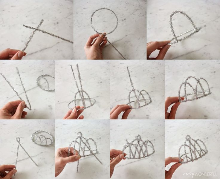 pipe cleaner tiara tutorial
