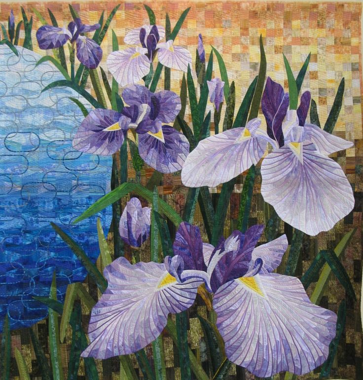 Ayame (Iris) by Takeyama, 2013 Tokyo Quilt Show. Photo by Julie Fukuda at My Quilt Diary ...