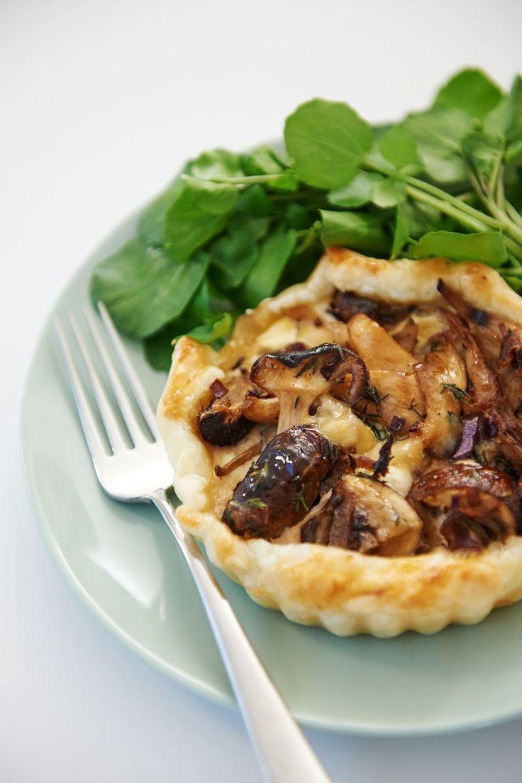 recept taartjes met paddestoelen en kaas