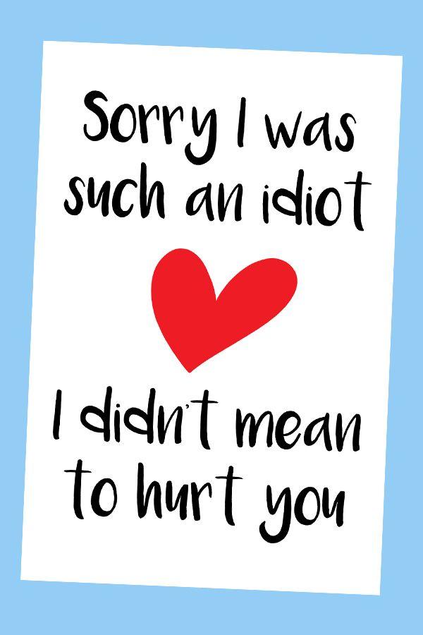 Sorry Card Girlfriend Sorry Card Sorry Card Boyfriend Sorry