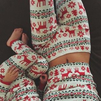 pajamas christmas tights thights red white leggings kendel jener kylie jenner baby clothing dress kendall jenner shirt pajama set christmas pajamas red white black christmas sweater winter outfits cozy cozy pyjamas fashion cute sleeping deer holiday season mother and child