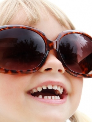 Do your kids like to wear your sunglasses?