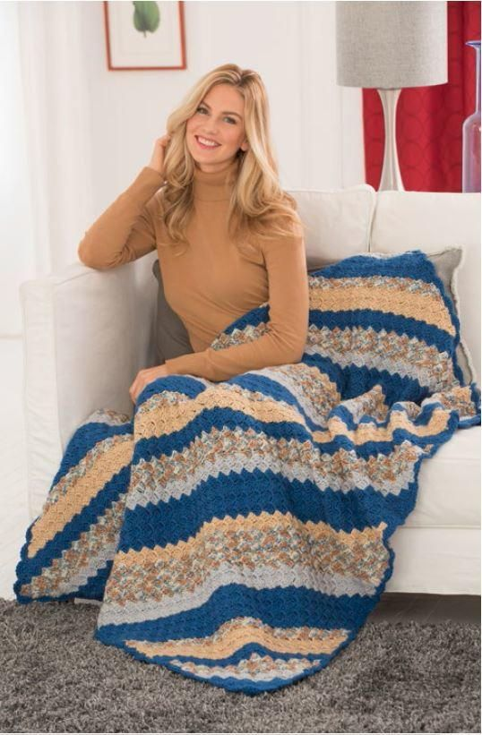 Restful Corner to Corner Crochet Throw | AllFreeCrochetAfghanPatterns.com