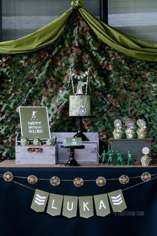 Army Themed Birthday Party (karaspartyideas.com)                                                                                                                                                     Mais