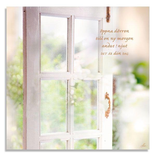 Kort Öppna dörren till en ny morgon, andas ! njut, det är din dag