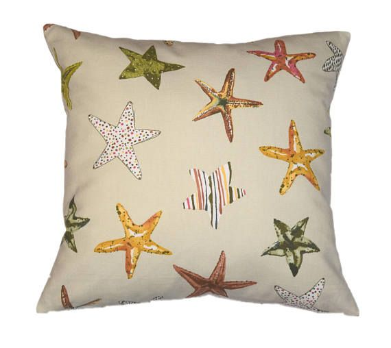 Starfish Pillow, Beach Throw Pillow, Starfish Pillow Cover, Kids Pillow, Boys Pillow Case, Baby Pillow, Throw Pillow Case Cover, Pillow Case
