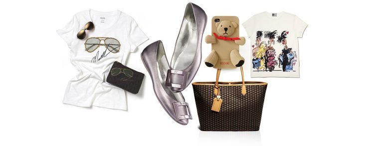 La collection capsule de Lanvin, les 'Twin-Set' de Chanel, les lunettes de soleil Michael Kors, la coque Iphone Moschino ou le foulard Paul Smith, découvrez tous les accessoires c