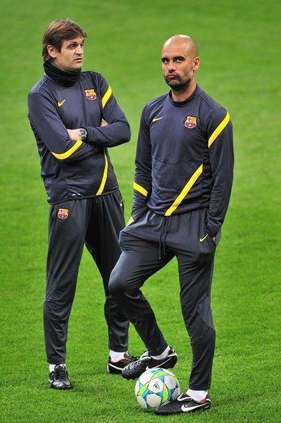 Pep Guardiola & Tito Vilanova at San Siro
